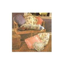 Bolster Patch Puff Round Box Dresden Plate Ruffled Heart Sunburst Pillows Instructional Card Simplicity 8475 Sewing Pattern