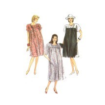 Maternity Dress in Two Lengths Simplicity 9172 Vintage Sewing Pattern 8 - 10 - 12 - 14 - 16
