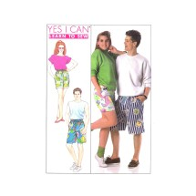 Misses Mens Teen Boys Surfer Shorts Simplicity 9241 Vintage Sewing Pattern Size Extra Small