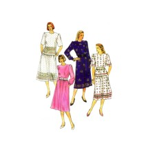 Misses Blouse Skirt Two Piece Dress Simplicity 9310 Vintage Sewing Pattern Size 6 - 8 - 10 - 12