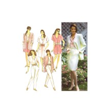 Misses Pull-On Pants Shorts Slim Skirt Unlined Jacket Simplicity 7118 Vintage Sewing Pattern Size 12 - 14 - 16 - 18