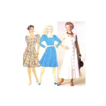 Misses Fit and Flare Princess Dress Simplicity 9746 Vintage Sewing Pattern Size 6 - 8 - 10 - 12 - 14