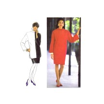 1990s Misses Knit Skirt and Dress or Tunic Simplicity 7494 Vintage Sewing Pattern Size P - S - M - L - XL