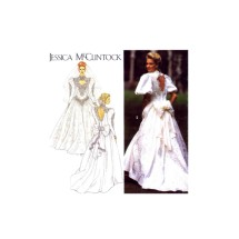 Jessica McClintock Brides Dress Wedding Gown Simplicity 8176 Vintage Sewing Pattern Size 10 - 12 - 14
