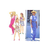 Girls Jumpsuit in Two Lengths Simplicity 8504 Vintage Sewing Pattern Size 12 - 14
