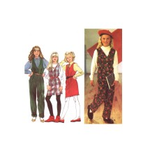 Girls Jumpsuit in Two Lengths and Jumper Simplicity 8631 Vintage Sewing Pattern Size 7 - 8 - 10 - 12 - 14
