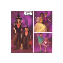 Princess Fairy Witch Halloween Costumes Andrea Schewe Simplicity 8647 Sewing Pattern Size 2 - 3 - 4 - 5 - 6