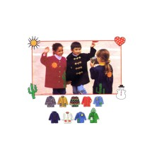 Simplicity 9303 Boys or Girls Jacket Vintage Sewing Pattern Size 3 - 4 - 5 - 6