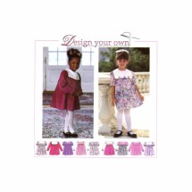 Little Girls Full Skirt Dress Simplicity 9376 Sewing Pattern Size 2 - 3 - 4