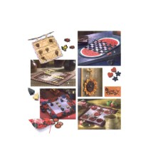 Backgammon Checkers Tic Tac Toe Game Boards Simplicity 9517 Vintage Sewing Pattern