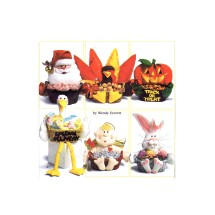 Christmas Valentines Day Easter Baby Halloween Thanksgiving Seasonal Felt Basket Decorations Simplicity 7039 Sewing Pattern