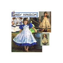 Girls Daisy Kingdom Dress Pinafore Doll Clothes Simplicity 9706 Sewing Pattern Size 5 - 6 - 7 - 8
