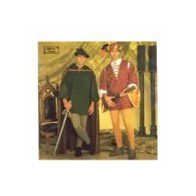 Mens Robin Hood Renaissance Costume Andrea Schewe Simplicity 7761 Sewing Pattern Size XS - S - M - L - XL