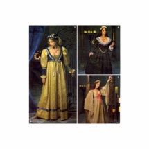 Maiden Gown Renaissance Historical Costume Simplicity 8192 Sewing Pattern Size 10 - 12 - 14