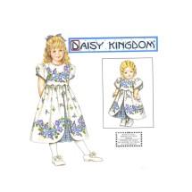 Simplicity 8554 Daisy Kingdom Girls Dress and Matching Doll Dress Sewing Pattern Size 3 - 4 - 5 - 6
