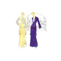 Misses Two Piece Dress Titanic Costume Simplicity 8640 Sewing Pattern Size 12 - 14 - 16