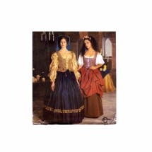 Elizabethan Dress Blouse Skirt Renaissance Costume Simplicity 8715 Sewing Pattern Size 16 - 18 - 20