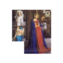Renaissance Cape and Headpieces Medieval Costumes Simplicity 8728 Sewing Pattern