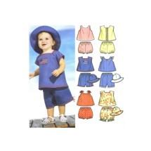 Babies Tops Panties Hat Simplicity 7239 Sewing Pattern Size XXS - XS - M - L
