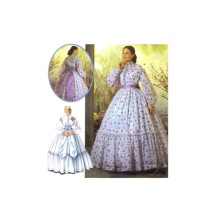 Civil War Wedding Dress Reenactment Martha McCain Simplicity 5442 Sewing Pattern Size 14 - 16 - 18 - 20