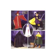 Girls Princess Boys Grim Reaper Robin Hood Wizard Musketeer Costumes Andrea Schewe Simplicity 5512 Sewing Pattern Size 3 - 4 - 5 - 6 - 7 - 8