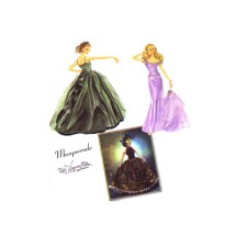 Couturier Doll Clothes for 15 1/2 Inch Dolls Evening Gowns Masquerade Ball Outfit Simplicity 5709 Sewing Pattern