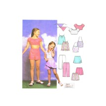 Girls Tops Pants Skort Scarf Simplicity 5158 Sewing Pattern Size 7 - 8 - 10 - 12 - 14