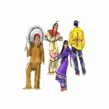 Misses Mens Teens Native American Clothing Costume Simplicity 5446 Sewing Pattern Size XS - S - M - L - XL