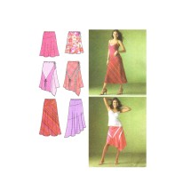 Misses Bias Pull On Skirts with Hemline and Length Variations Simplicity 4189 Sewing Pattern Size 6 - 8 - 10 - 12 - 14