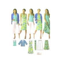 Misses Kimono Jacket Skirt Sash Knit Gaucho Pants Dress Top Simplicity 4193 Sewing Pattern Size 10 - 12 - 14 - 16 - 18