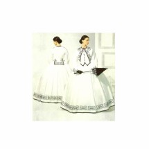 Civil War Dress Gown Costume Reenactment Simplicity 3791 Sewing Pattern Size 8 - 10 - 12 - 14