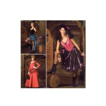 Old West Saloon Girl Can-Can Dancer Edwardian Steampunk Costume Simplicity 2851 Sewing Pattern Size 6 - 8 - 10 - 12