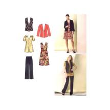 Misses Pants Dress Tunic Jacket Vest Simplicity 1592 Sewing Pattern Size 8 - 10 - 12 - 14 - 16
