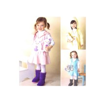 Toddler Girls Fleece Dress Jumper Stuffed Animal Simplicity 1288 Sewing Pattern Size 1/2 - 1 - 2 - 3 - 4
