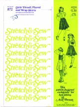 Stretch & Sew 872 Dirndl Flared Wrap Skirts Hip 22 - 28
