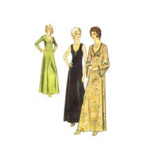 Misses Evening Dress Sleeveless or with Bell Sleeves Style 4364 Vintage Sewing Pattern Size 14 Bust 36