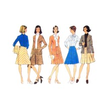 1970s Misses Cardigan Skirt Blouse Style 4746 Vintage Sewing Pattern Size 16 Bust 38