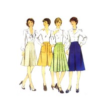 1970s Misses Skirts Style 4770 Vintage Sewing Pattern Size 16 Waist 30
