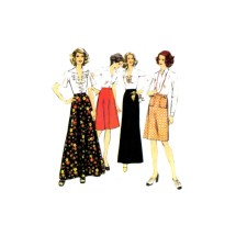 Misses Skirts in Two Lengths Style 4797 Vintage Sewing Pattern Size 20 Waist 34