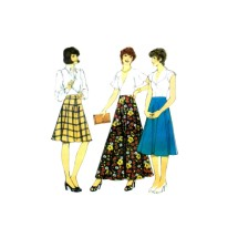 1970s Misses Skirt in Three Lengths Style 4843 Vintage Sewing Pattern Size 12 Waist 26 1/2