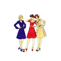 Misses Shirtwaist Dress Style 4849 Vintage Sewing Pattern Size 16 Bust 38