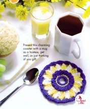 Sunny Days Mug Coaster Mat Crochet Pattern Annies Scrap Crochet Club