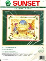 Dimensions Sunset Gallery Crewel Embroidery Kit Joy of the Season