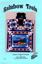 Rainbow Train Sunset Silhouette Designs Sewing Pattern