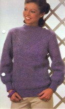 'V' Yoke Sweater Knitting Pattern