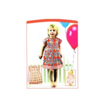 Little Girls Dress and Doll Dress Seams So Cute Vanilla House P155 Sewing Pattern Size 1 - 2 - 3 - 4 - 5