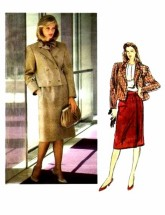 Vogue 1281 Blassport Ltd. Jacket Skirt Suit Size 10 - Bust 32 1/2