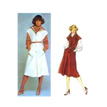 Galitzine Jumper Blouse Scarf Vogue 1307 Vintage Sewing Pattern Size 10 Bust 32 1/2