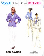 Vogue 1869 Don Sayres Jacket Belt Shirt Pants Handkerchief Size 10 - Bust 32 1/2
