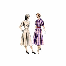 1940s Flared Dress Vogue 3190 Vintage Sewing Pattern Size 15 Bust 33